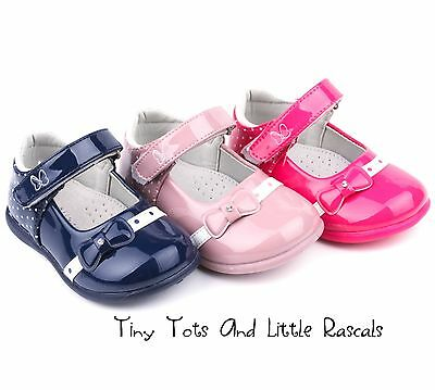 Toddler Girls Patent Shoes Pumps Leather Insole Occasion Party Sizes UK 3.5 - 7