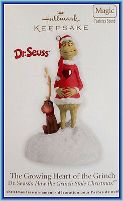 Hallmark 2012 Dr. Seuss Grinch  -  Growing Heart of the Grinch-  MIB Magic Sound