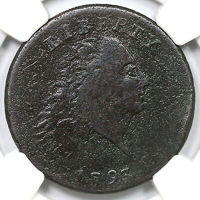 1793 S-3 R-3- NGC Fine Details Chain Large Cent Coin 1c