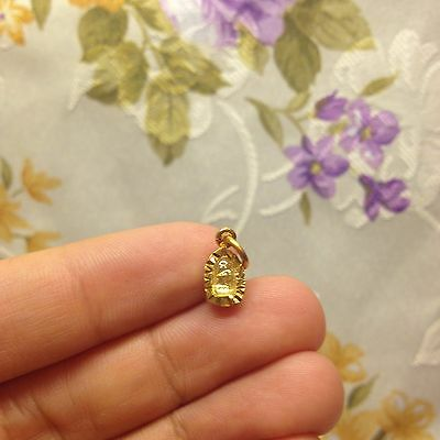Super Mini Nang Kwak Thai Amulet Micon-Gold Plated Luck Rich Charm Money Protect