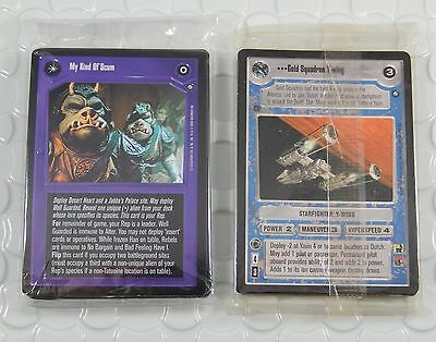 Star Wars CCG Official Tournament & Jabbas Palace Sealed 18 Card Pack 2 Set Lot