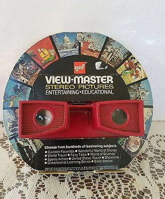 VINTAGE 1971 GAF VIEWMASTER STEREO VIEWER With ORIGINAL PACKAGE