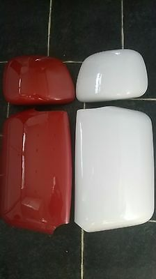 SCANIA TRUCK WAGON Red.White.Black.CHROME NOT STAINLESS STEEL Mirror COVERS R&L