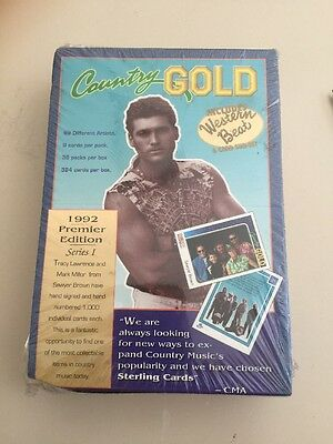 1992 Country Gold Music Trading Cards Sealed Box Premier Edition Series 36 Packs