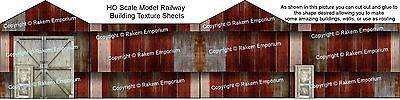 HO Scale Rusty Corrugated Iron High Definition Gloss Photo Sheets 3 x A4 - CRSG1