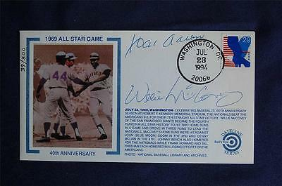 1969 All-Star Game Event Bulls Eye Cach Signed Hank Aaron & Willie McCovey WH024