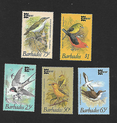 Barbados 701 - 705 VF MNH Set of 5 Birds - Capex 87