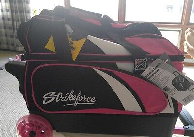 KR Strikeforce Cruiser Smooth Pink/White/Black 2 Ball Roller Bowling Bag