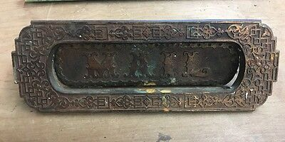 Antique Door Letter Mail Slot. Very Nice Original And Functional