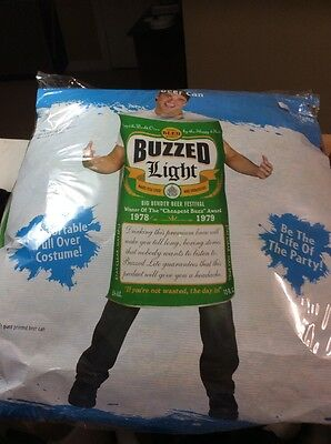 Halloween Adult BEER CAN BUZZED LIGHT NOVELTY HUMOR Party Costume ONE SIZE