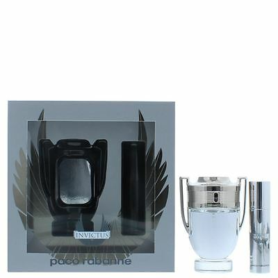 Paco Rabanne Invictus Eau de Toilette 50ml & 10ml Gift Set For Him Men Homme EDT