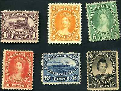New Brunswick #6 to #11 mint F/F-VF NG 1860 Cents Issue complete set CV$266.25