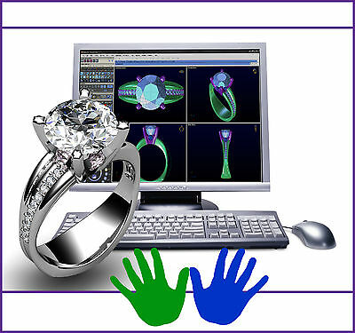 Custom Jewelry Design 3D CAD Graphic Customized Engagement Ring Fine Jewelry Wax