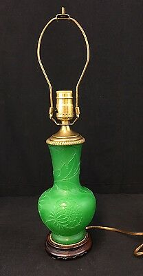 Breathtaking Antique Steuben Art Glass Lamp With Beautiful Details