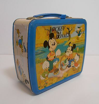 1978 Exrtemely Rare Japan issue Mickey & Donald lunchbox Few known to exist !!!