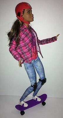 Made To Move AA Skateboard Barbie Ultimate Posable Doll Nikki Flexible