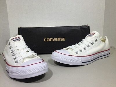 CONVERSE Unisex CT All Star Ox Optical White Canvas Size W 7 M 5 Shoes XJ-84