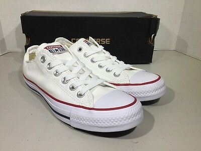 Converse Mens 4.5 Women's 6.5 All Star OX White Canvas Sneakers Shoes XJ-82