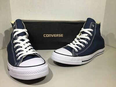 Converse Mens Size 8 / Women's Size 10 Navy All Star Hi Tops Shoes XJ-85