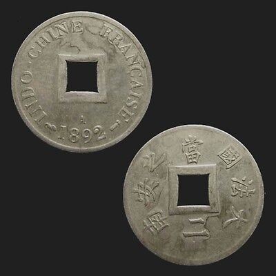 FRENCH INDOCHINA. 1/500 PIASTRE/2 SAPEQUES 1892 A. Plated.