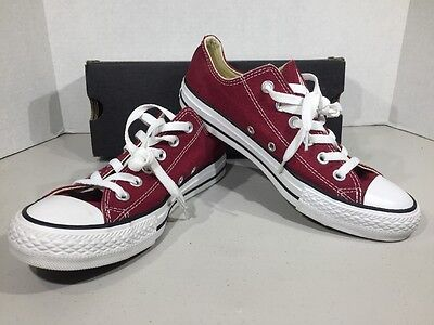 CONVERSE All-Star OX M 6 / W 8 Maroon Canvas Low Sneakers Shoes XJ-25