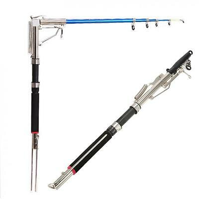 Automatic Fishing Rod Stainless Steel Glass Fiber Telescopic River Fishing Pole