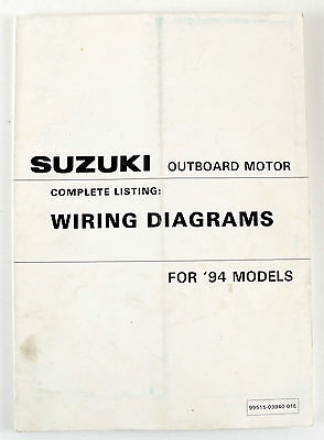 Suzuki outboard motors 1994 models wiring diagrams second hand