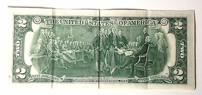 BANCONOTA 2 TWO AMERICAN DOLLARS 1976 E BiCentennial Declaration Of Independence