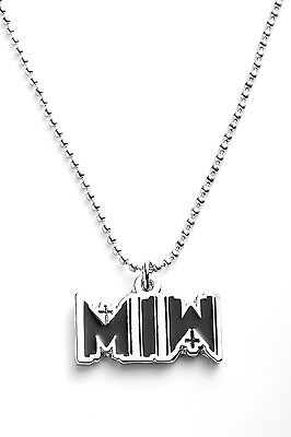 Motionless in White Metal Pendant with Chain Ball Necklace Black