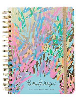 2017-2018 Lilly Pulitzer Sparkling Sands Large Agenda
