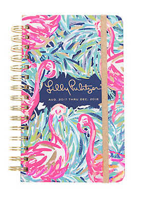2017-2018 Lilly Pulitzer Flamenco Beach Medium Agenda