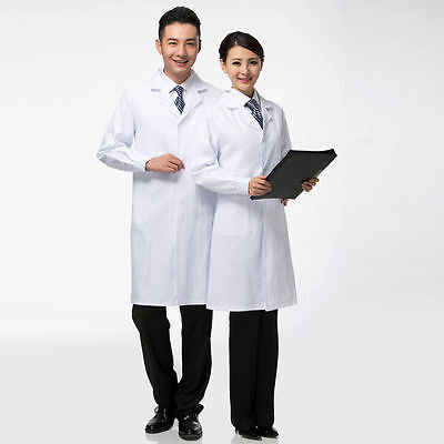 White Lab 2017 Coat Medical Unisex Doctor Coats Jackets Nursing Men Women Long