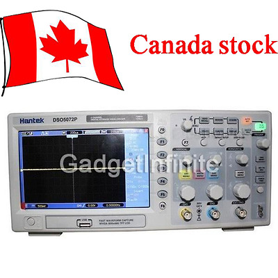 DSO5202P 2Channels 7'' TFT LCD 800x480 USB Digital Oscilloscope 1GS/s 200MHz CAN