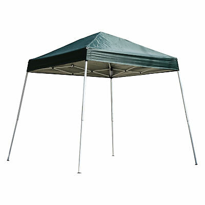 Outsunny 8x8ft Eazy Pop Up Canopy Party Tent Shade Outdoor Shelter w/ Slant Leg