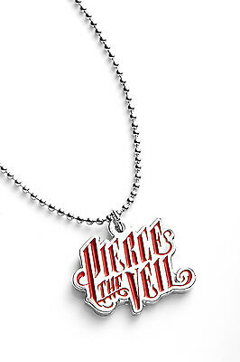 Pierce the Veil Metal Pendant with Chain Ball Necklace Red