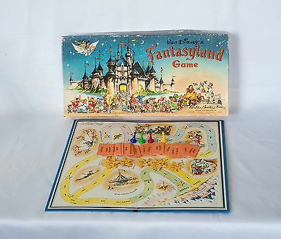 Vintage Walt Disney's FANTASYLAND Board Game 1956