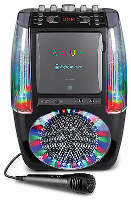 Karaoke Machine Microphone With Bluetooth Led Disco Lights Fountain Singing New