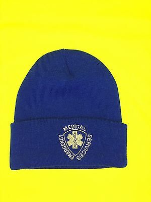 NEW Embroidered Emergency Medical Services Royal Blue EMS Rescue Stocking Cap