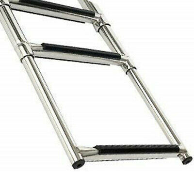 4 Step Telescoping Ladder For Marine Boat Yacht Stainless Steel AU FAST SHIP NEW