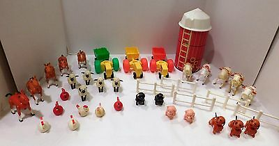 FARM ACCESSORIES LOT 2 Vintage Fisher Price Little People 42 pieces