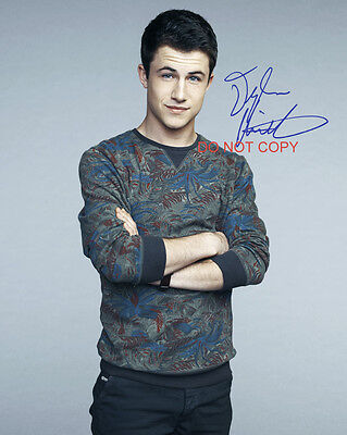 """13 Reasons Why Dylan Minnette as Clay Jensen 8x10"""" Reprint Signed Photo #1 RP"""