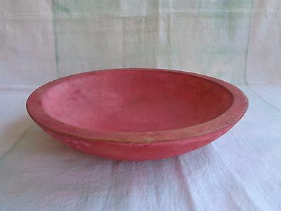 Vintage Munising Carved Wood Mixing Bowl Reddish Color Very Pretty!