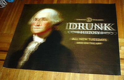 DRUNK HISTORY COMEDY CENTRAL 5FT SUBWAY POSTER George Washington 2014