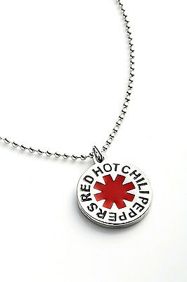 Red Hot Chili Peppers Metal Pendant with Chain Ball Necklace Chain