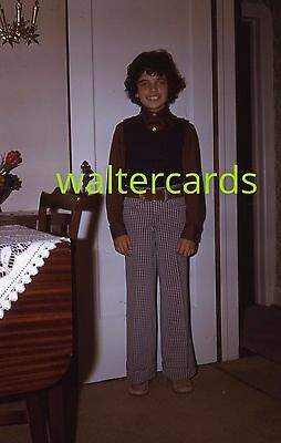 KODACHROME 35mm slide 1970s 1974 Boy Hippie Era Teen Fashion Cute Mod Pants