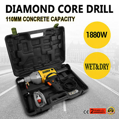 220V Hand Held Dry Diamond Percussion Core Drilling Drill 1880W 2 Speed 1700r/mi
