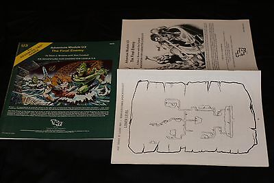 VINTAGE TSR's ADVANCED DUNGEON & DRAGONS MODULE U3 9076 THE FINAL ENEMY N/M