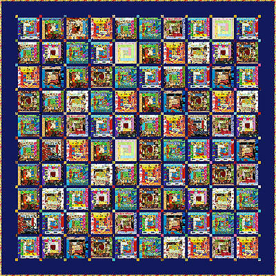 "HUMPTY DUMPTY - 102"" - Quilt-Addicts Pre-cut Patchwork Quilt Kit King size"