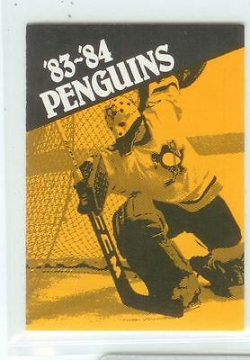 Pittsburgh Penguins NHL hockey schedule 1983-84 NICE condition !