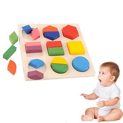Baby Wooden Building Block Montessori Early EDC Toy Intellectual Geometry S,